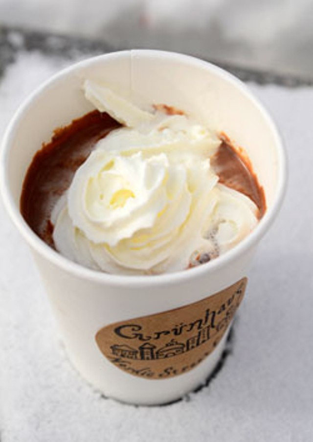 Hot chocolate from Grünhaus Nordic Street Eats - JEB WALLACE-BRODEUR