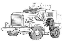 Vermont State Police obtained an MRAP armored vehicle through the 1033 Program. - MATT MORRIS