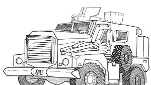 Vermont State Police obtained an MRAP armored vehicle through the 1033 Program.
