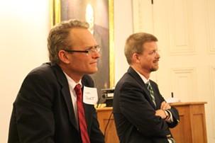 Rep. Willem Jewett and House Speaker Shap Smith - PAUL HEINTZ