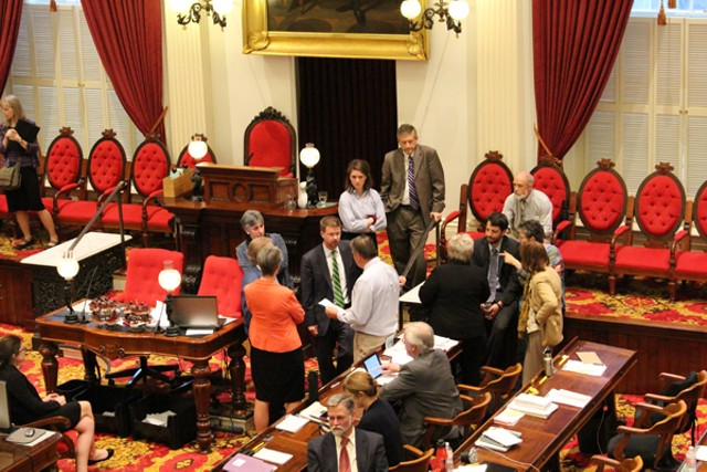 House leaders discuss minimum wage proposals Thursday night. - PAUL HEINTZ