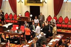 House leaders discuss minimum wage proposals Thursday night. - PAUL HEINTZ