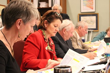 Members of the House Appropriations Committee review the budget Thursday - PAUL HEINTZ