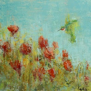 "COURTESY OF WEST BRANCH GALLERY - ""Hummingbird No. 2"" by Rebecca Kinkead"