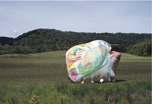 COURTESY OF HELEN DAY ART CENTER - Inflatable sculpture by Claire Ashley