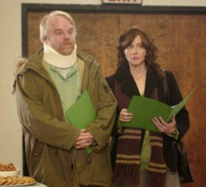 INNER WILD Hoffman and Linney grapple with their ailing dad and their own sorry lives in Jenkins' black comedy.