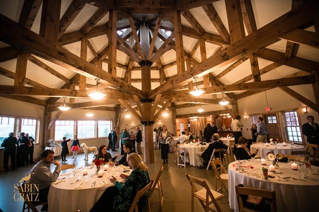 Interior of the wedding barn - COURTESY OF THE INN AT GRACE FARM