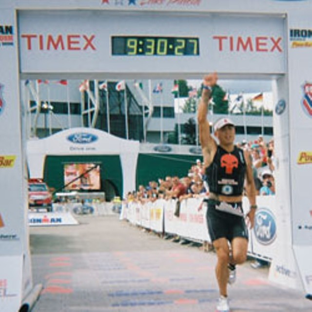 Ironman winner Ben Logan Franks