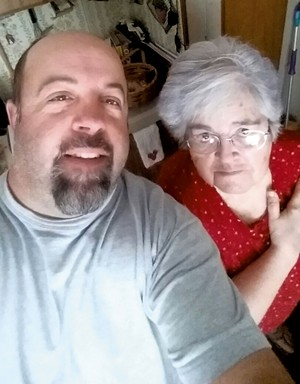 Jason Little with his mother, Pat - COURTESY OF JASON LITTLE