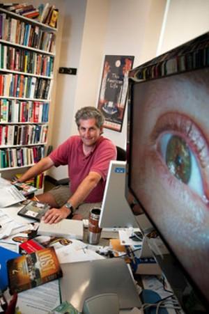 Jason Mittell in his office