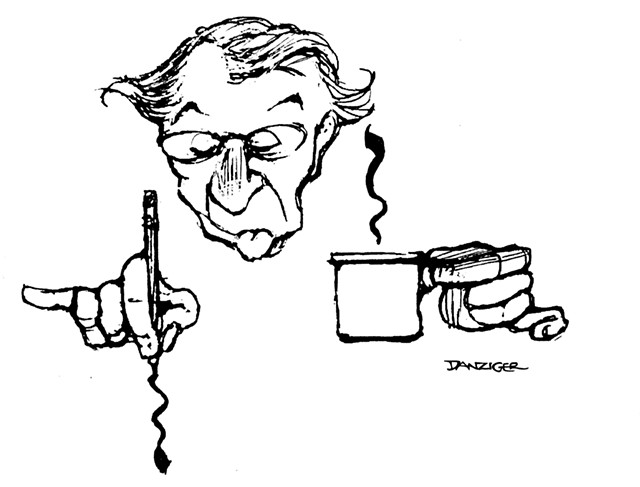 Jeff Danziger, by his own hand - COURTESY OF THE CENTER FOR CARTOON STUDIES