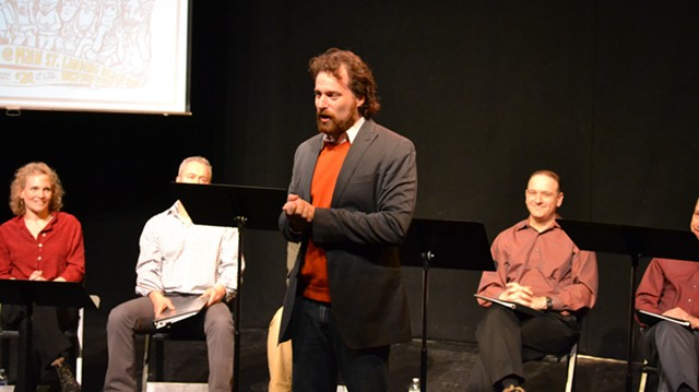 Jewish Plays Project director David Winitsky (center) at last year's competition - COURTESY OF THEATRE KAVANAH