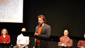 Jewish Plays Project director David Winitsky (center) at last year's competition