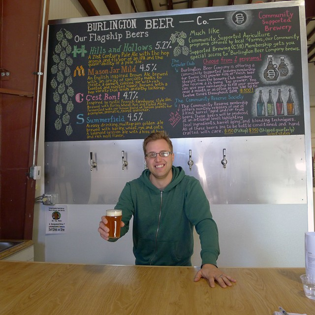 Joe Lemnah at Burlington Beer Company - CORIN HIRSCH