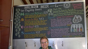 Joe Lemnah at Burlington Beer Company