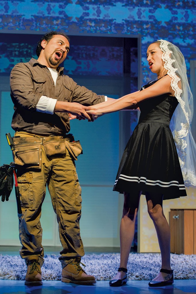 José Adán Pérez (Figaro) and Maria Elena Altany (Susana) in Figaro - COURTESY OF LA OPERA