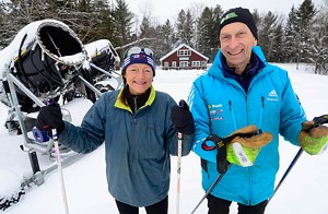 JEB WALLACE-BRODEUR - Judy Geer and Dick Dreissigacker at Craftsbury Outdoor Center
