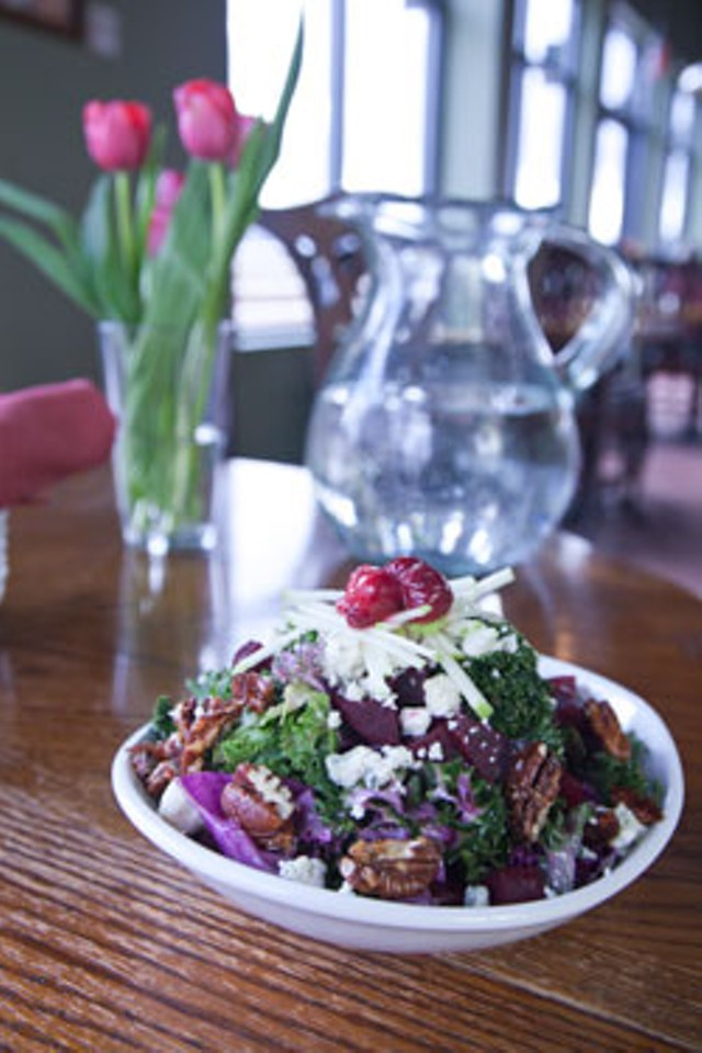 Kale and beet salad at Hinesburgh Public House - MATTHEW THORSEN