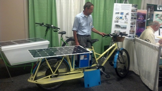 Karl Kemnitzer and his solar-powered bicycles. - MATTHEW ROY