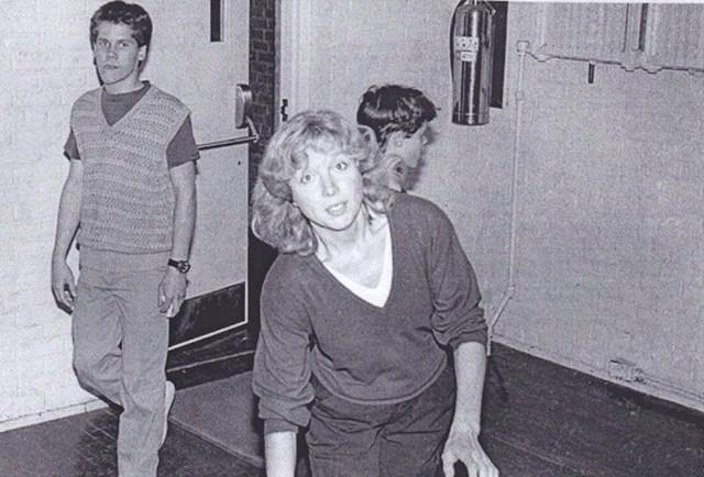 Kathy Lawrence at 242 Main, 1980s - COURTESY OF KIRK FLANAGAN
