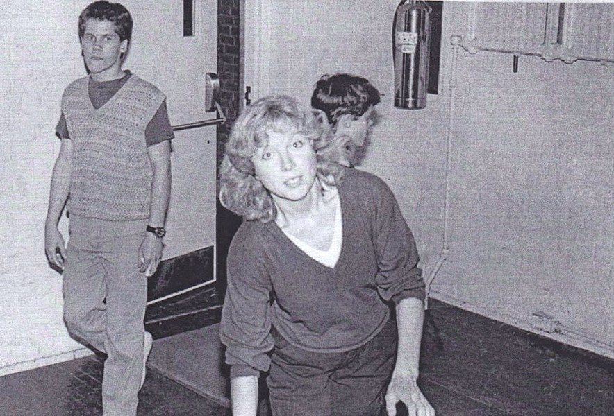 Kathy Lawrence at 242 Main, 1980s - COURTESY OF KIRK FLANAGAN