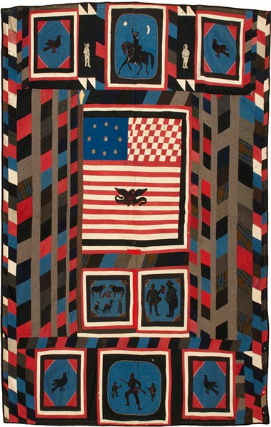 """Kinzie Quilt,"" uniform cloth, ca. 1865 - COURTESY OF SHELBURNE MUSEUM"