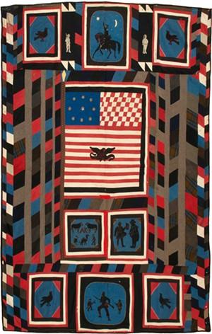 """""""Kinzie Quilt,"""" uniform cloth, ca. 1865 - COURTESY OF SHELBURNE MUSEUM"""