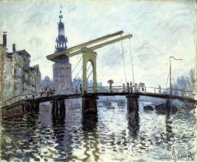 """""""Le Pont, Amsterdam"""" by Claude Monet"""