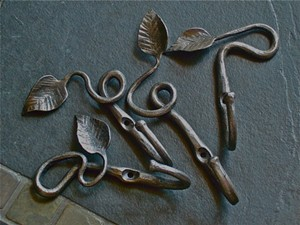 COURTESY OF COLLECTIVE — THE ART OF CRAFT - Leaf hooks by Chris Eaton