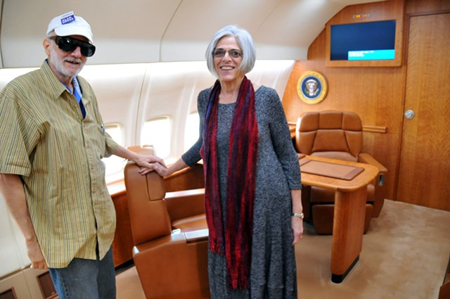 Alan and Judy Gross on their return from Cuba on Wednesday - COURTESY: SEN. LEAHY'S OFFICE