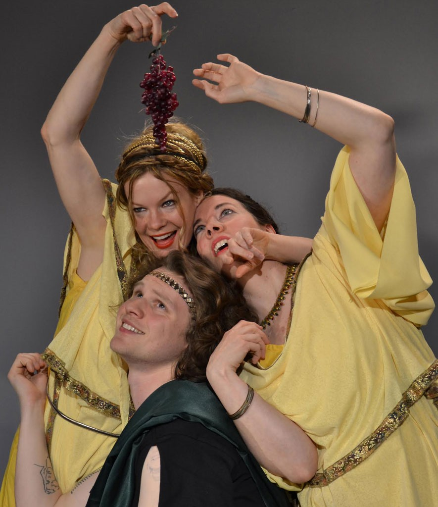 Left to right, Chris Caswell, Sean Martin and Blythe Usher - COURTESY OF SAINTS & POETS PRODUCTION COMPANY