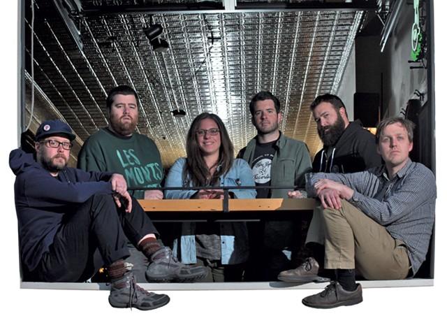 Left to right: Nick Mavodones, Brian Nagle, Ali Fogel, Matt Rogers, Ryan Smith and Paddy Reagan - MATTHEW THORSEN