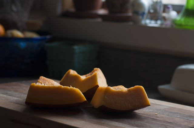 Leftover pumpkin can be cut and saved (in fridge or freezer) for weeks. - HANNAH PALMER EGAN