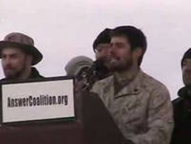 Liam Madden Speaking Outside the Pentagon