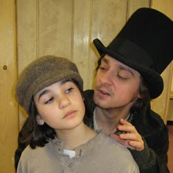 Libby Belitsos (Oliver), and Robby Tann (Artful Dodger)