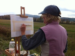 COURTESY OF ARTISTS' MEDIUMS - Libby Davidson at the easel
