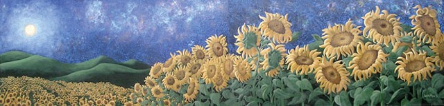 Liza Myers' sunflower painting