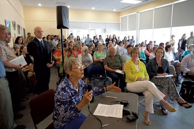 Locals speak to state legislators about the Department for Children and Families - MATTHEW THORSEN