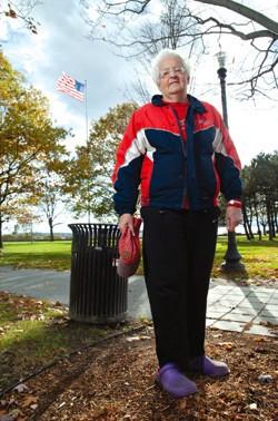 Lois Farnham in Battery Park - MATTHEW THORSEN