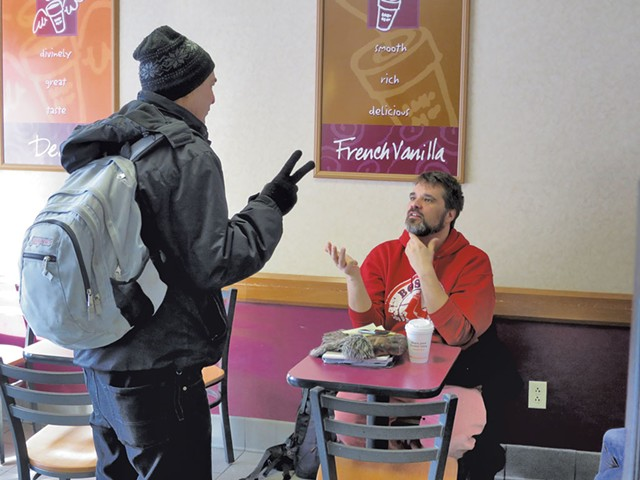 Loyal Ploof at Dunkin' Donuts - MATTHEW THORSEN