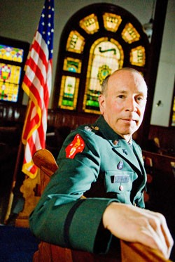 Lt. Col. Charles Purinton, Vermont National Guard Chaplain - ANDY DUBACK