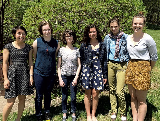Lucy Leith, Alice Schroeder, Sophie Zeman Hale, Natalie Kenney, Sarah McNamara and Ella Hill