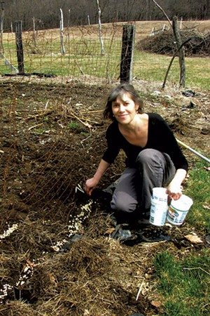 Maggie planting peas in her garden - COURTESY OF EVE FOX