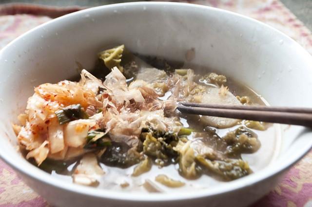 Make this heartwarming miso-based soup in 20 minutes or less. - HANNAH PALMER EGAN