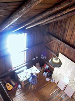Making art in the barn