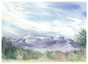 "COURTESY OF ARTISTS' MEDIUMS - ""Mansfield Sky"" by Libby Davidson"