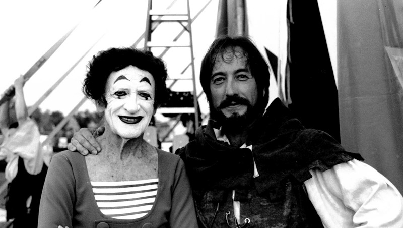 Marcel Marceau and Rob Mermin in 1999