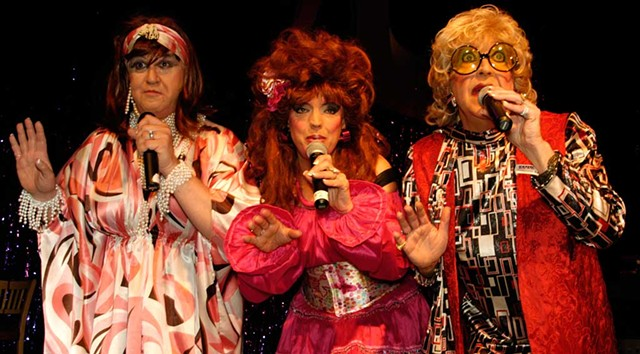 Margaurite, Lucy Belle and Amber: The House of LeMay performing at Drag Ball 2011 - MATTHEW THORSEN