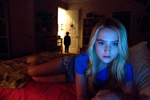 MARGIN OF TERROR Newton has a penchant for webchatting in dark rooms in the latest addition to the horror franchise.