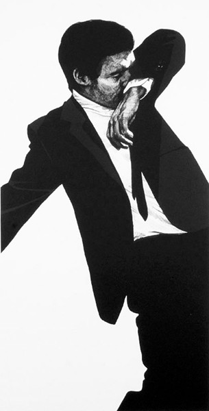 """Mark"" by Robert Longo"